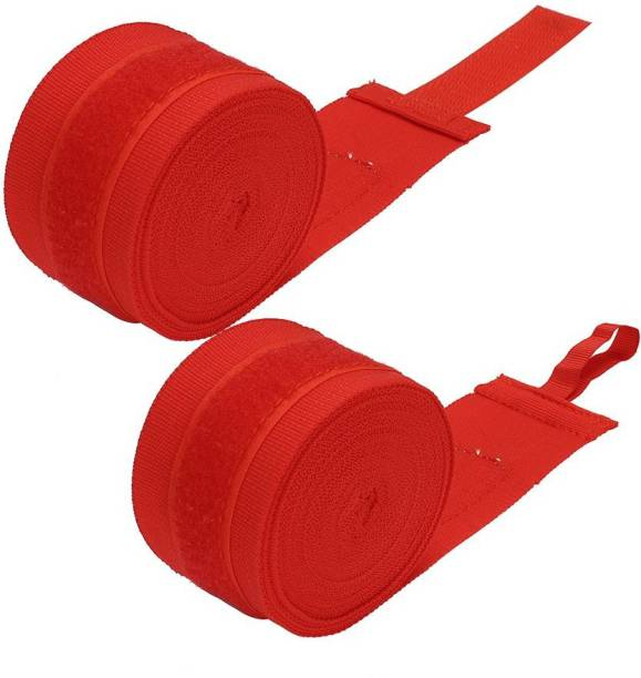 Leosportz (1 pair) Stretchable cotton Boxing Hand Wraps Red Boxing Hand Wrap