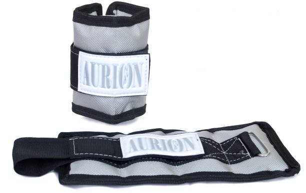 Aurion 1 KG (0.5 KG X 2) Wrist/Ankle Weights Home Gym Weight Bands Grey Ankle & Wrist Weight, Wrist Weight
