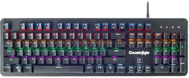 CosmicByte CB-GK-12 Neon Rainbow Mechanical Wired USB Gaming Keyboard