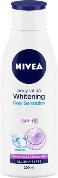 NIVEA Body Lotion, Whitening Cool Sensation, SPF 15 & Refreshing Menthol