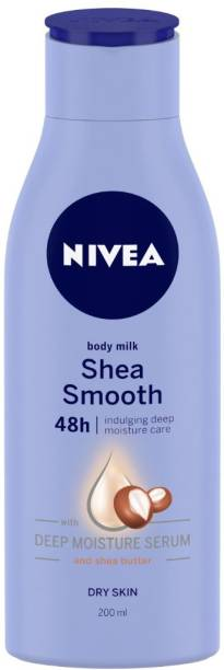 NIVEA Body Lotion for Dry Skin, Shea Smooth, with Shea Butter, For Men & Women