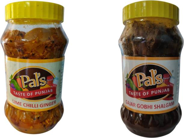 Pals The Taste Of Punjab Ready to Eat Combo of Lime Chilli Ginger And Gajar Gobhi Shalgam Pickle Carrot, Ginger, Cabbage, Lime, Green Chilli Pickle