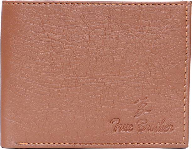 true brother Boys Casual Tan Artificial Leather Wallet