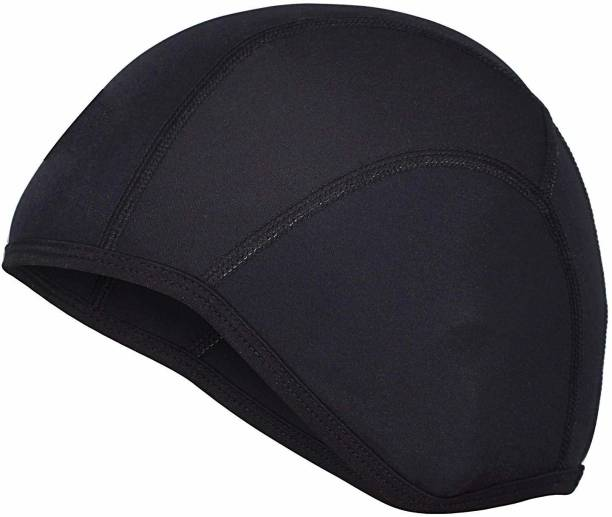 MOTOTRANCE Black Helmet Skull Cap for Men