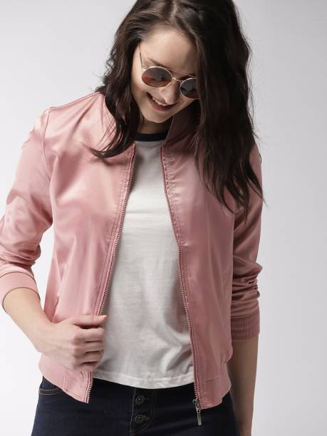 MAST & HARBOUR Full Sleeve Solid Women Jacket