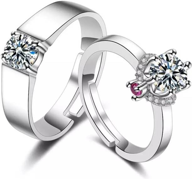 c867792ec BlueShine Couple Rings king and queen for true lovers & perfect Valentine  Gift for your loved