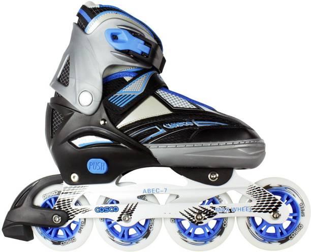 COSCO Inline Sprint Skates (Size 35-38)(Colour-Blue) In-line Skates - Size 2-5 UK