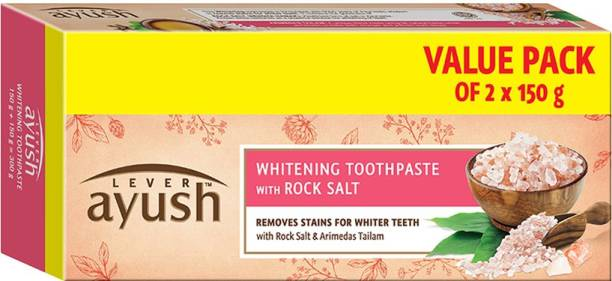 Lever Ayush Rock Salt with Whitening Toothpaste