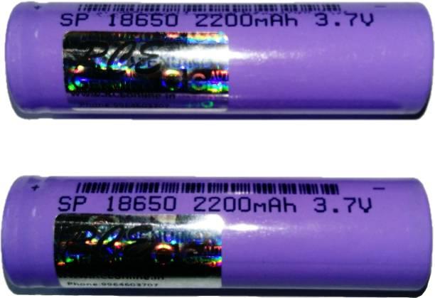 RCE 2 pcs 18650 2200mAh 3.7v Li ion Rechargeable Batteries Camera Lithium ion Battery