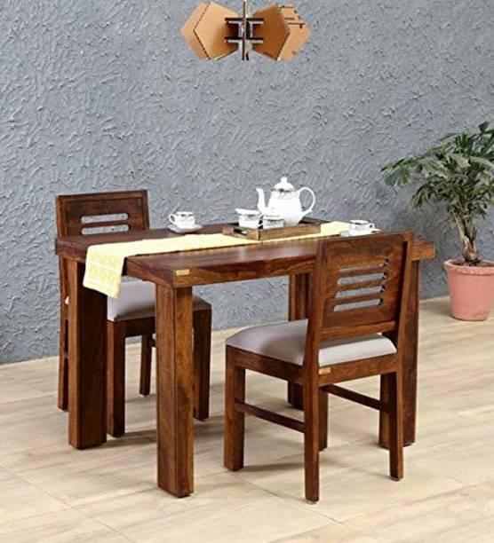Suncrown Furniture Sheesham Wood Solid Wood 2 Seater Dining Set