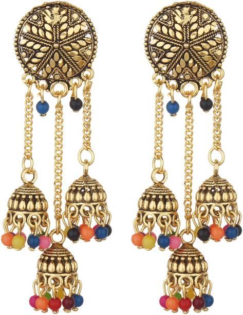 1b4fe2226 styles creation Stylish, Designer, Party Wear Jhumki Earrings ARTFLJWL187  Alloy, Stone Jhumki Earring