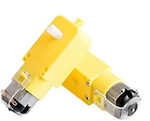 Robotbanao DC BO Dual shaft Smart Car Robot Gear Motor for Arduino - Pack of 2 Pieces Motor Control Electronic Hobby Kit