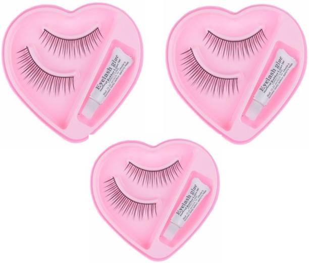 Shopeleven 002 False eyelash [pack of 3] waterproof & Reusable