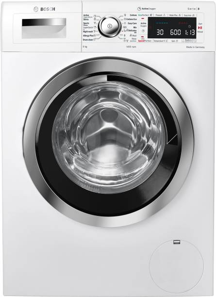BOSCH 9 kg Fully Automatic Front Load with In-built Heater White