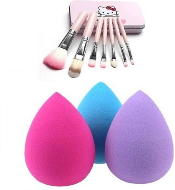 RTB Helo kitty Make-up Brush with beauty blender sponge puff 3