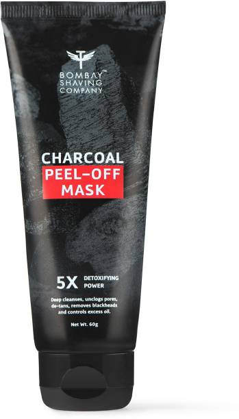 BOMBAY SHAVING COMPANY Activated Charcoal Peel Off Mask with 5X Detoxifying Power, fights pollution and De-Tans skin- 60g