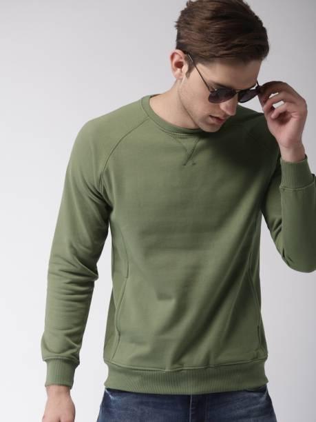 MAST & HARBOUR Full Sleeve Solid Men Sweatshirt