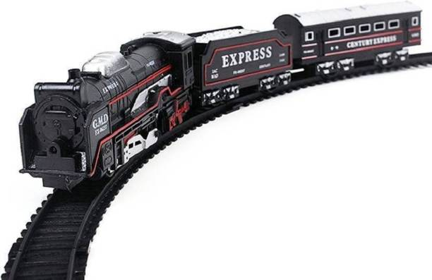 NV COLLECTION kids Toy train Battery Operated Train Set With Head Light for kids