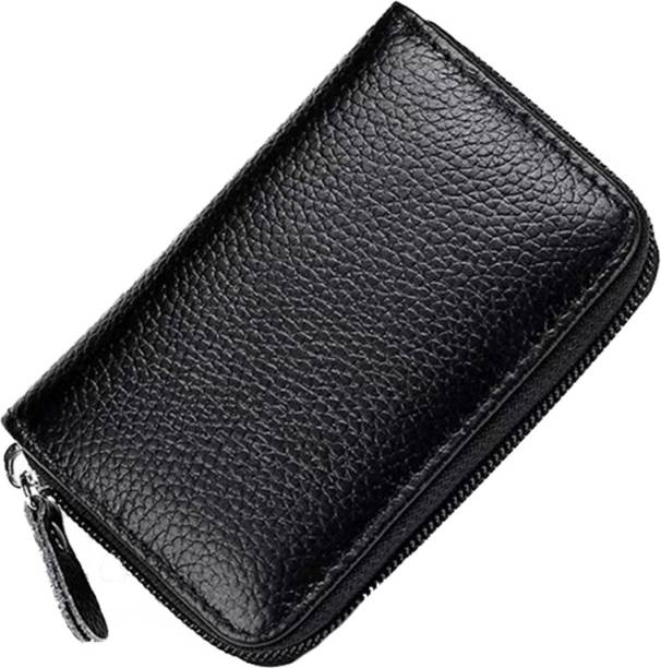 StealODeal Exclusive Black High Quality 11 Slot Leatherite Wallet Atm 15 Card Holder