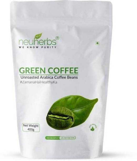 Neuherbs Green Coffee beans for Weight Loss(Unroasted Beans) Instant Coffee