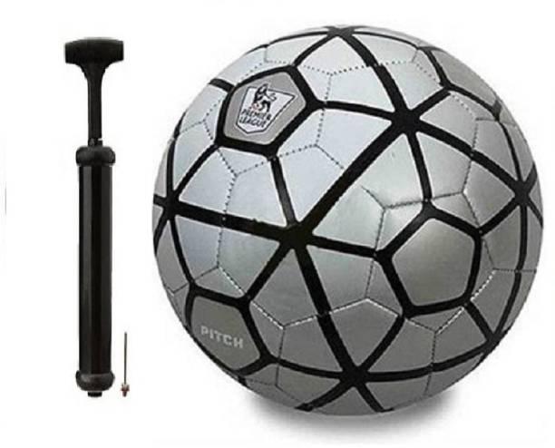 WBR Silver BlackWith Inflating Air pump Football Kit