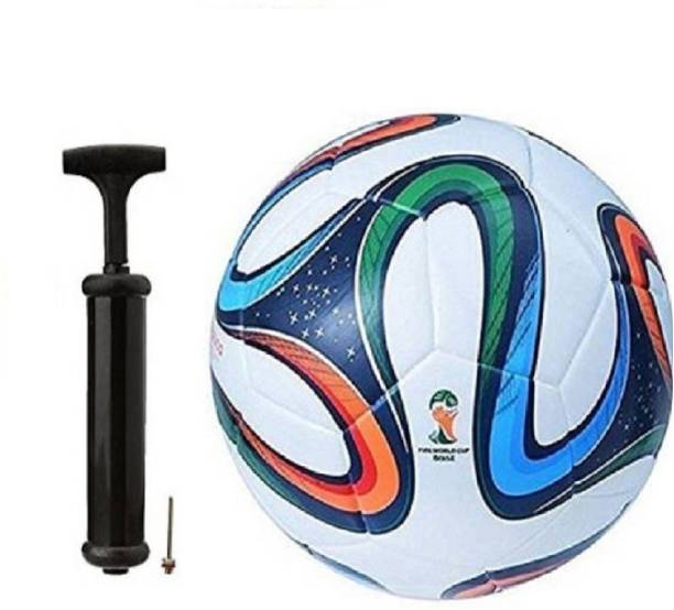 WBR Brazuca 4 ColorWith Inflating Air pump Football Kit