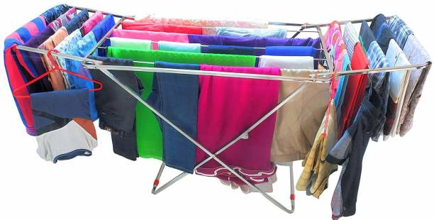 LIMETRO STEEL Steel Floor Cloth Dryer Stand SS-REDE-CLOTHSTAND