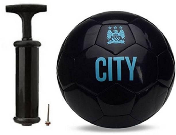 WBR City BlackWith Inflating Air pump Football Kit