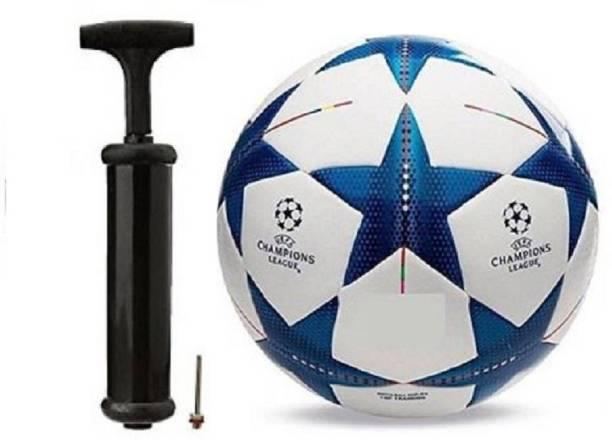 WBR Blue StarWith Inflating Air pump Football Kit