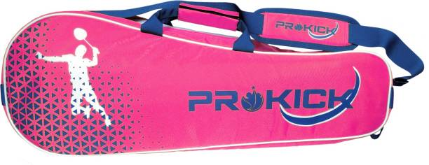 Prokick Badminton Kitbag with Double Zipper Compartments - Pink