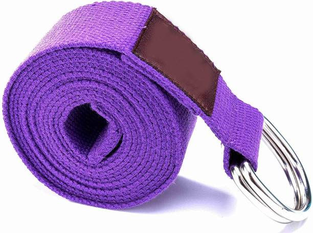 Leosportz Yoga Strap Made from Durable Cotton with Adjustable D-Ring Cotton Yoga Strap