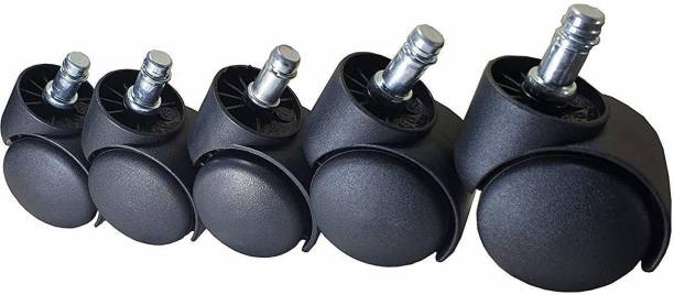 Bellveen Revolving Pin Type Chair Wheel - Set of 5 Appliance Furniture Caster