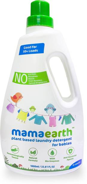 MamaEarth Plant Based Baby Laundry Liquid Detergent, with Bio-Enzymes and Neem Extracts, 1000ml Liquid Detergent