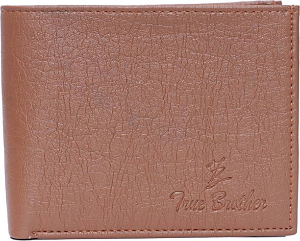 true brother Boys Casual Brown Genuine Leather Wallet