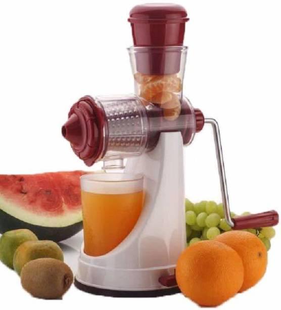 Ketsaal KETJC01 Deluxe Fruit & Vegetable Manual Steel Handle Polypropylene Hand Juicer 0 Juicer (1 Jar, Transparent)