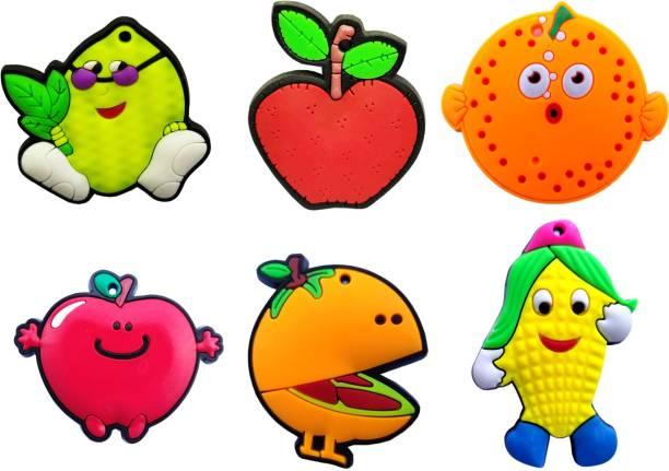 e2556c07408 ShivExim Cute Fruit Soft Rubber PVC Silicon Fridge Magnet, Door Magnet Pack  of 6