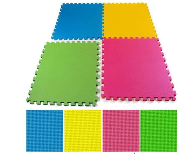 IRIS Fitness Puzzle Exercise Mat, EVA Foam Interlocking Tiles (160 SQ FT) Multicolor 10mm mm Exercise & Gym Mat