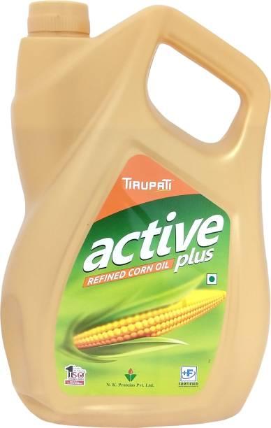 TIRUPATI Active Plus Refined Corn Oil Can