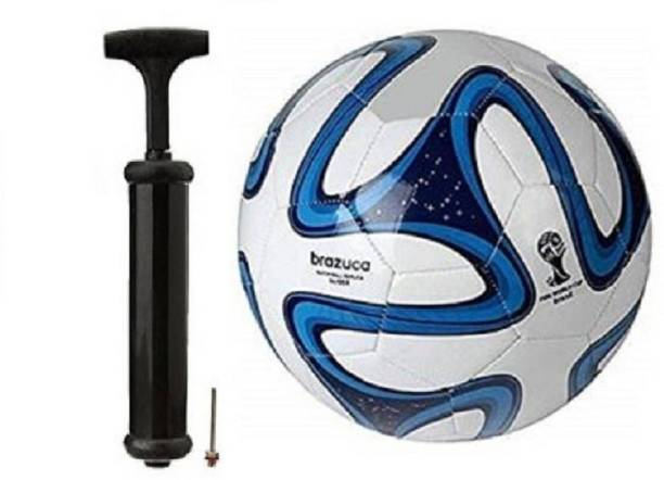WBR Brazuca Blue ColorWith Inflating Air pump Football Kit
