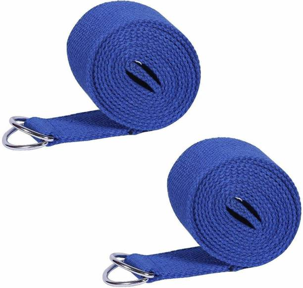 Futurekart Yoga Belt Long 250CM* Wide 3.8CM Thick 0.1CM Yoga Props 2 in 1 Set Microfibre Yoga Strap