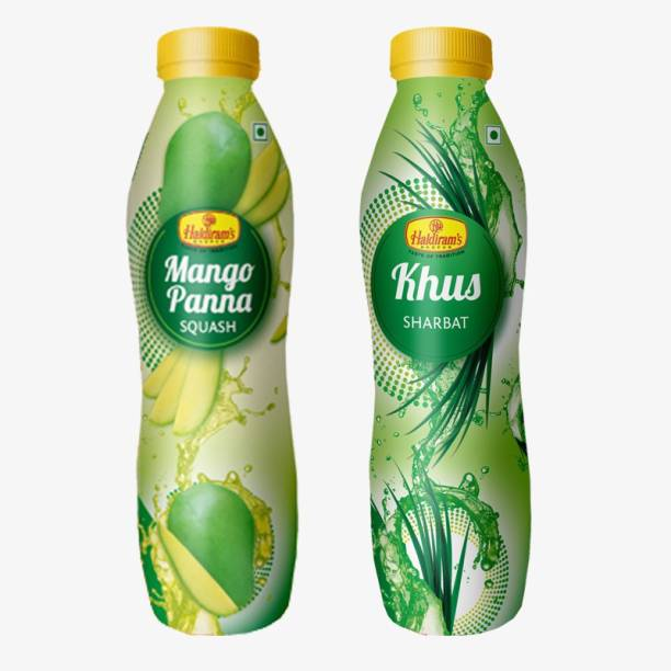 Haldiram's Khus Squash and Mango Pana Squash (Combo Pack)