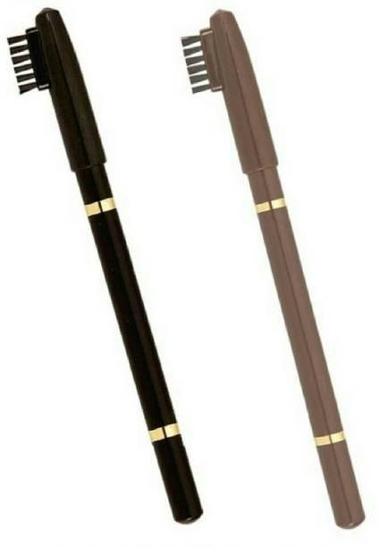 Butees18 long lasting waterproof eyebrow shaper eyebrow pencil black and brown