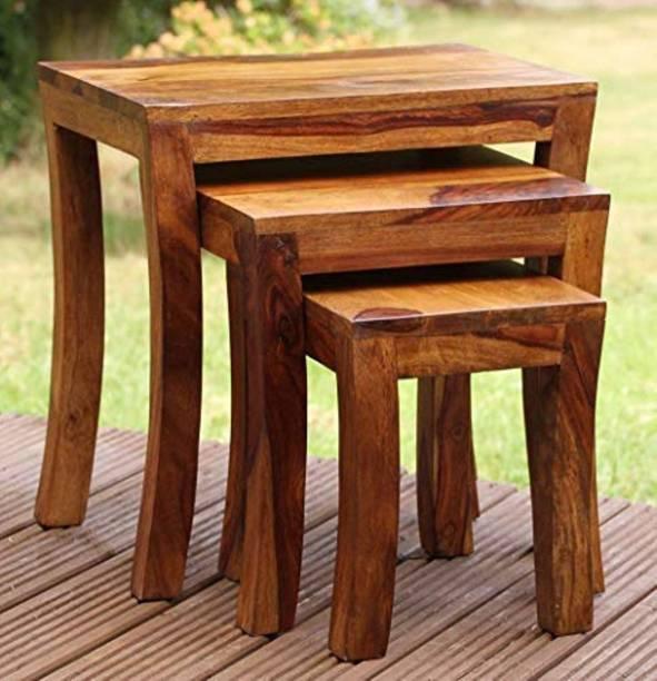 Allie Wood Sheesham Wood Solid Wood Nesting Table