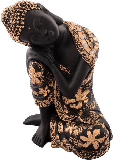 eCraftIndia Pleasing Buddha on Knee Polyresin Showpiece Decorative Showpiece  -  22.5 cm
