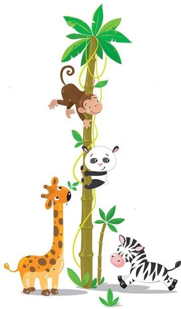 100yellow Medium Animals Cartoon PVC Vinyl Sticker for Living & Kids room
