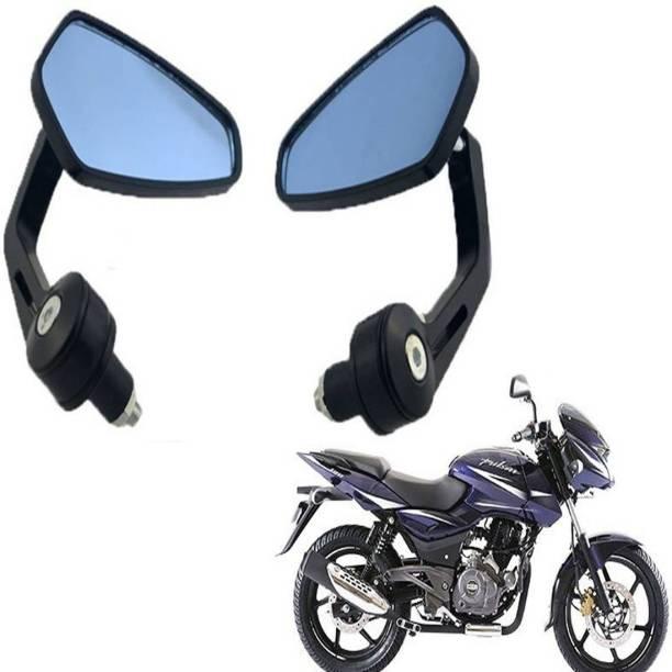 BRPEARl Manual Driver Side, Dual Mirror, Rear View Mirror For Bajaj Pulsar 150 DTS-i