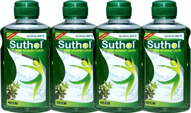BOROLINE's SUTHOL Neem Liquid Drop 200 ML Combo Pack of 4 (800 ML) Antiseptic Liquid