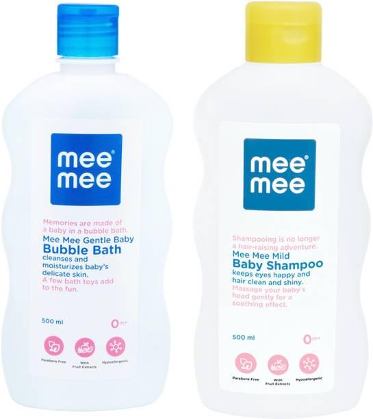 MeeMee Gentle Baby Bubble Bath And Mild Baby Shampoo (500 ml)