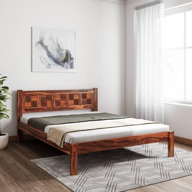 Induscraft Sheesham Wood Solid Wood Queen Bed