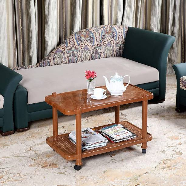 cello Oscar Center Table (SandalWood Brown) Plastic Coffee Table